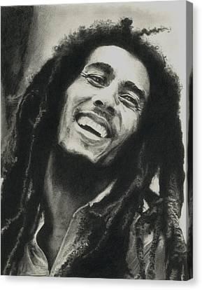 Bob Marley Canvas Print by Dan Lamperd