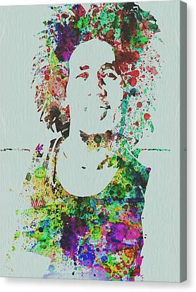 Bob Marley Music Legend Canvas Print by Naxart Studio