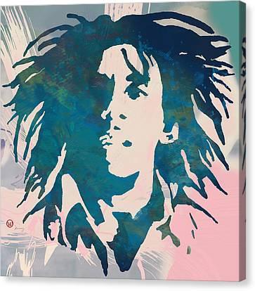 Bob Marley Stylised Pop Art Poser Canvas Print by Kim Wang