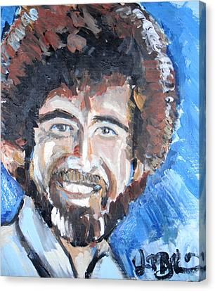 Bob Ross  Canvas Print by Jon Baldwin  Art