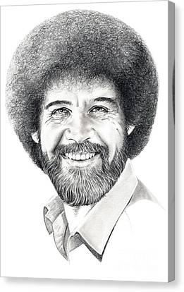 Bob Ross Canvas Print by Murphy Elliott