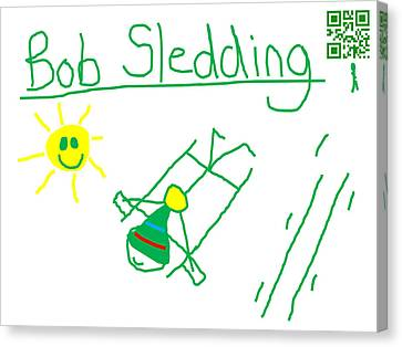 Bob Sledding Canvas Print by Jeffrey Church