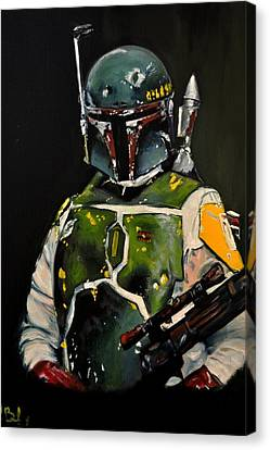 Boba Fett Beginning Canvas Print by Ruben Barbosa