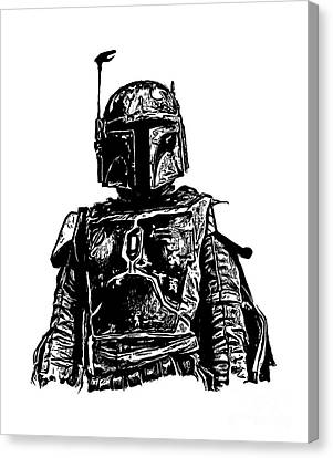 Boba Fett From The Star Wars Universe Canvas Print by Edward Fielding