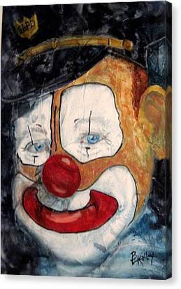 Bobo Cop Canvas Print by Barbara Kelley