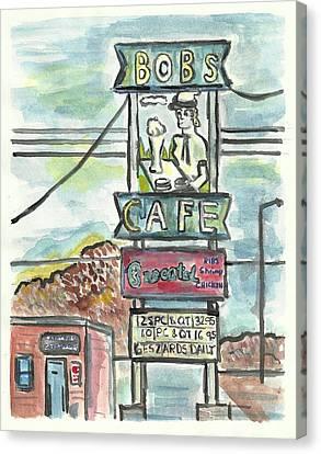 Bob's Cafe Canvas Print by Matt Gaudian