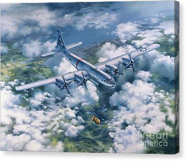 Dawn Of A Thousand Suns - Bockscar Over Nagasaki Canvas Print by Randy Green