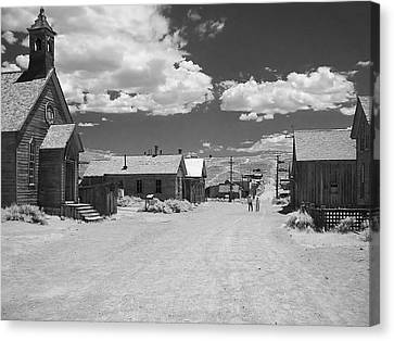 Bodie A Ghost Town Infrared  Canvas Print by Christine Till