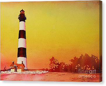 Bodie Island Lighthouse Sunset Canvas Print by Ryan Fox