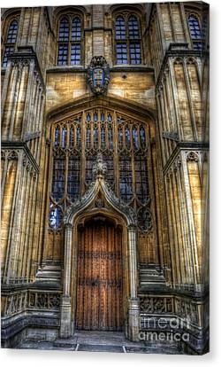 Bodleian Library Door - Oxford Canvas Print by Yhun Suarez