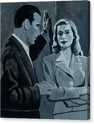 Bogie And Bacall Canvas Print by Frank Strasser