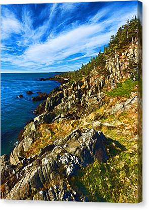 Bold Coast 3 Canvas Print by Bill Caldwell -        ABeautifulSky Photography