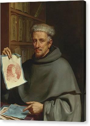 Bologna Portrait Of Fra Bonaventura Bisi Canvas Print by Giovanni Francesco