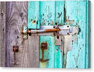 Bolted Door Canvas Print by Tom Gowanlock