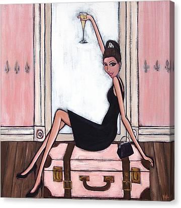 Bon Jour Canvas Print by Denise Daffara