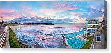 Bondi Beach Icebergs Canvas Print by Az Jackson