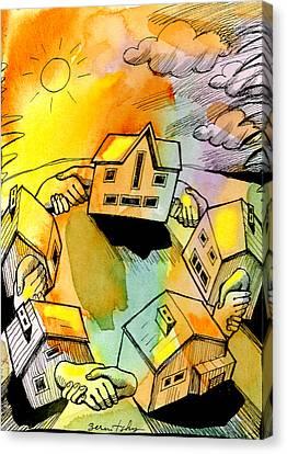 Bonding Communities Canvas Print by Leon Zernitsky