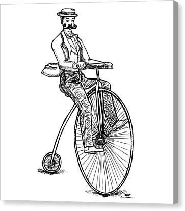 Boneshaker Velocipede Bicycle Canvas Print by Karl Addison