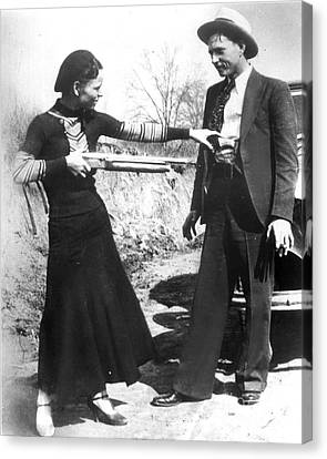 Bonnie And Clyde, 1933 Canvas Print by Granger