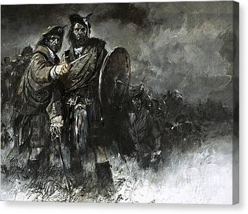 Bonnie Prince Charlie At Culloden Canvas Print by Neville Dear