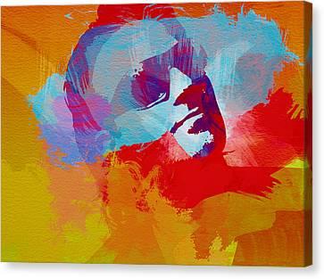 Bono U2 Canvas Print by Naxart Studio