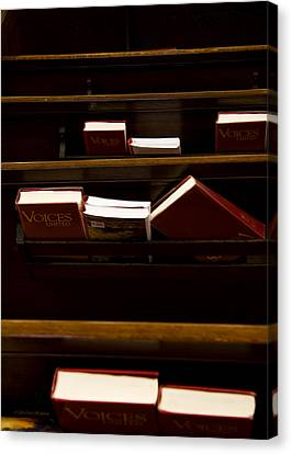 Book Of Worship II Canvas Print by Carol Hathaway