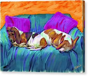 Bookends Canvas Print by Karen Derrico