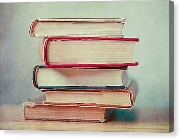 Books Love Canvas Print by Violet Gray