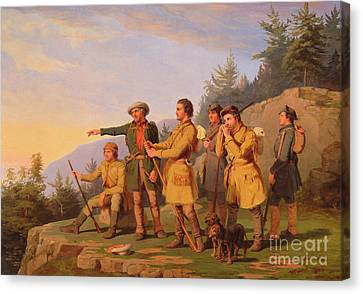 Boone's First View Of Kentucky Canvas Print by William Tylee Ranney