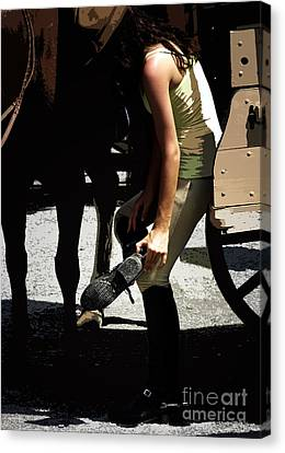 Boot Check  Canvas Print by Steven  Digman