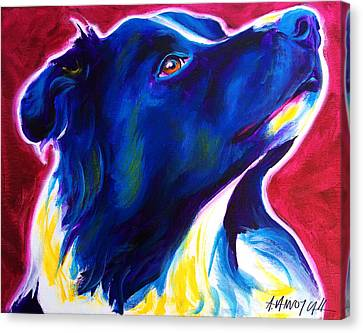 Border Collie - Bright Future Canvas Print by Alicia VanNoy Call