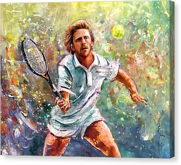 Boris Becker Canvas Print by Miki De Goodaboom
