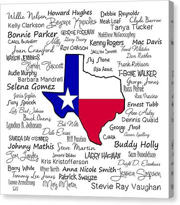 Born In Texas Canvas Print by Shirley Stalter