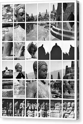 Borobudur In Frame Canvas Print by Mario Bennet