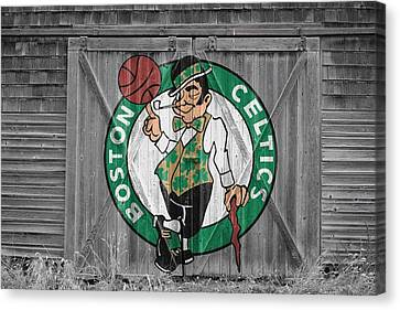 Boston Celtics Barn Doors 2 Canvas Print by Joe Hamilton