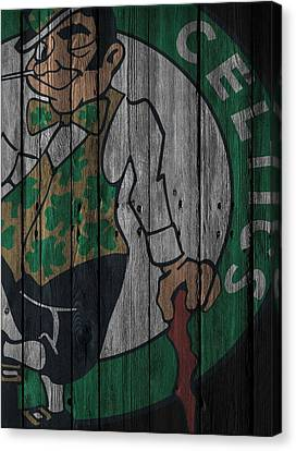 Boston Celtics Wood Fence Canvas Print by Joe Hamilton