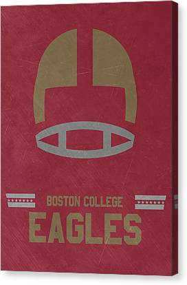 Boston College Eagles Vintage Football Art Canvas Print by Joe Hamilton