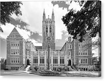 Boston College Gasson Hall Canvas Print by University Icons