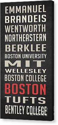 Boston Collegetown Canvas Print by Edward Fielding