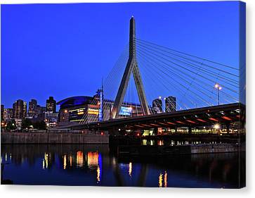 Boston Garden And Zakim Bridge Canvas Print by Rick Berk