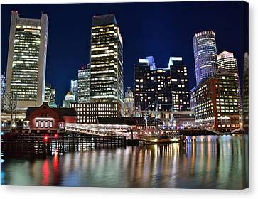 Boston Harbor Tea Party Canvas Print by Frozen in Time Fine Art Photography
