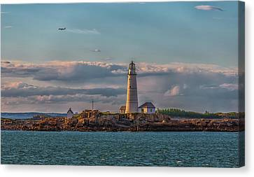 Boston Lighthouse Sunset Canvas Print by Brian MacLean