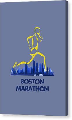 Boston Marathon5 Canvas Print by Joe Hamilton