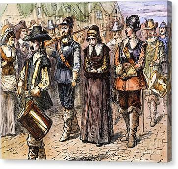 Boston: Mary Dyer, 1660 Canvas Print by Granger