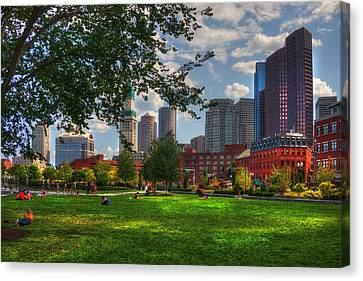 Boston North End Parks - Rose Kennedy Greenway Canvas Print by Joann Vitali