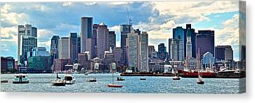 Boston Panorama Canvas Print by Frozen in Time Fine Art Photography