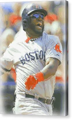 Boston Red Sox David Ortiz 3 Canvas Print by Joe Hamilton