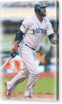 Boston Red Sox David Ortiz Canvas Print by Joe Hamilton