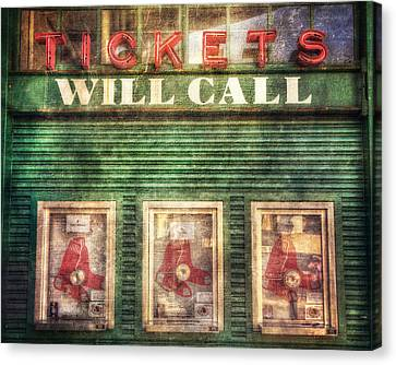 Boston Red Sox Fenway Park Ticket Booth Canvas Print by Joann Vitali