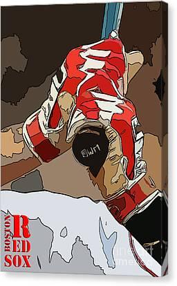Boston Red Sox Original Typography Baseball Team  Canvas Print by Pablo Franchi